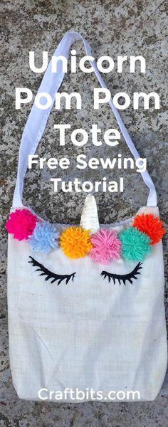 Create Adorable Unicorn Tote Bag - Kids Crafts - craftbits.com