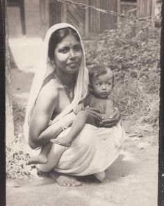 vintage photographs indian children | Two Photographs of Women Holding a Child - India, 1940's - Old Indian ...