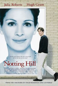 Notting Hill (1999)    An easy-going romantic comedy starring Hugh Grant and Julia Roberts. She is a famous star and he's just an ordinary man, but the feelings … music, film, hill 1999, watch, book, notting hill, hugh grant, julia robert, favorit movi