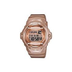 e40f161c4010 Casio Baby-G Ladies  Digital Rose Gold-tone Strap Watch. This Casio Baby-G  watch is a fabulous interpretation of the solid lines of the G-Shock  collection