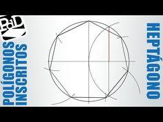 ▶ Heptágono inscrito en una circunferencia. - YouTube