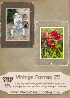 Here is a new vintage web frame (original sent by Lori Peterson , thank you Lori!).  I have included both a layered fully adjustable psd ...