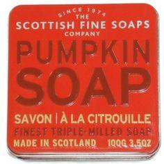 The Scottish Fine Soaps Company Soap Tin Collection - Pumpkin