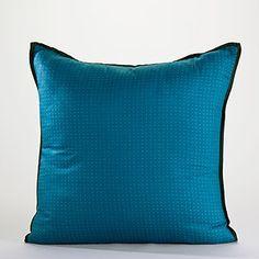 Navy/Peacock Kanatha Reversible Throw Pillow | World Market- living room