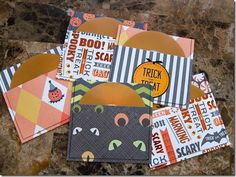 cute CD pouch with Scrapbook paper for delivering photos. Katie the Scrapbook Lady
