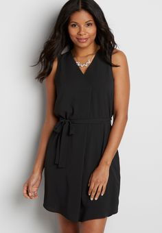 dress with adjustable tie waist (original price, $36.00) available at #Maurices