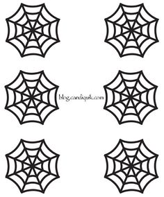 Outline for Spider Web Cupcake Toppers by @Miss CandiQuik