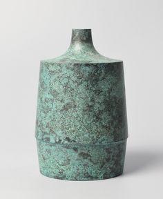 Japanese Bronze / Copper alloy Ikebana Vase by HARA MASAKI | eBay
