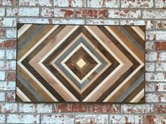 Chevron Wood Wall Art Wood Art Sculpture by moderntextures