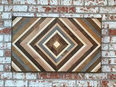 Chevron Wood Wall Art Wood Art Sculpture by moderntextures