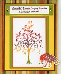 Autumn Tree Card & DIY Directions from GreatImpressionsStamps.com