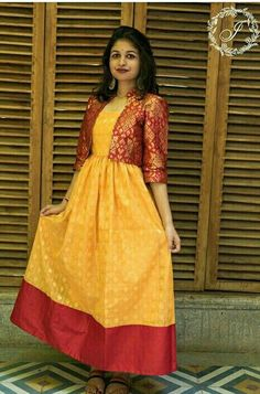 What To Do With Old Sarees - 20 Creative Things You Can DO - abandoned castles Shrug For Dresses, Indian Gowns Dresses, Indian Fashion Dresses, Indian Designer Outfits, Stylish Dresses, Designer Dresses, Womens Formal Dresses, Designer Wear, Indian Outfits