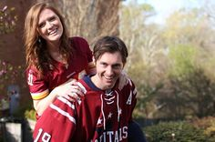Engagement idea - sports. Please enjoy the engagement photos of our future bride Beth, photos taken by her friend, and wonderful photographer Debra Cohen! Hair and Makeup by Alina Karaman