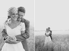 wheat field wedding photo