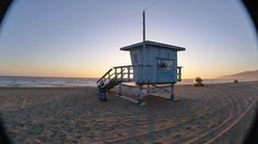 Lifeguard station #1 pre-sunset. Westward beach - Malibu, CA. March, 2012
