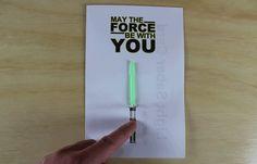 animated light saber star wars paper circuit