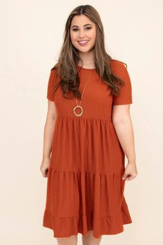 Come To My Rescue Dress, Brick – Chic Soul