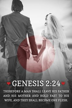 "Gen. 2:24 "" . The Lord so composed men and women that they need each other if they are to stay on the path of life."" quote from a good article noting the balancing of our natural differences as men and women together in Gods perfect plan..by rick Joyner. amazing!"