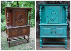 How To Paint Furniture – FunCycled Reclaimed Furniture, Repurposed Furniture, Paint Furniture, Furniture Projects, Gold Dipped Furniture, Antique Hutch, Pottery Barn Style, Dresser Sets, Dyi Crafts