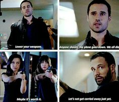 May, Skye, Ward, and Hunter #AgentsOfSHIELD<<Oh, Hunter. Never much one for bluffs, were you?