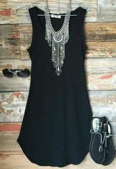 Black tunic dress