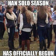 Color me Han Solo then lol