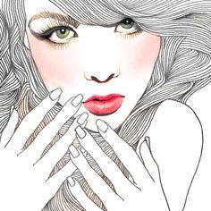 Samira:  by Korean Illustrator Hajin Bae