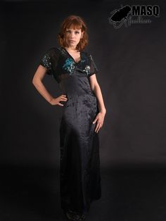 Art Deco inspired long gown dress with by MASQfashion