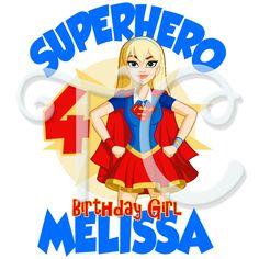 DC Superhero Girls Supergirl Personalized Birthday t shirt