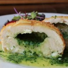 It takes a little work, but this succulent chicken Kiev with homemade parsley butter is well worth the effort. Chicken Kiev Recipe, Chicken Recipes, Chicken Ideas, Great Recipes, Dinner Recipes, Favorite Recipes, Dinner Ideas, Retro Recipes, Simply Recipes