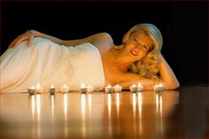 Candles on wooden floor