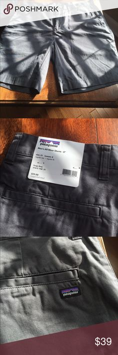 Patagonia men's shorts Size 31 I seem  8  forge grey  regular rise and fit never worn! Patagonia Shorts