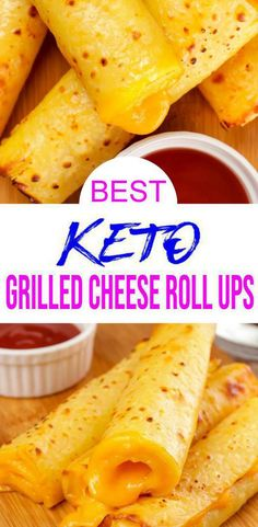 Quick & simple grilled cheese roll ups for ketogenic diet. Grilled cheese u will love. Homemade low carb grilled cheese w/ easy bread recipe. Healthy Freezer Meals, Quick Meals, Queso Mozzarella, Mozzarella Sticks, Low Carb Keto, Low Carb Recipes, Grill Cheese Roll Ups, Grilled Cheese Rolls, Lunches