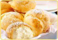 Room Soesjes 75 g Koopmans Kristalbloem 60 g boter snufje zout 100 ml water 3 eieren (m) 500 ml slagroom 60 g suiker 2 zakjes vanillesuiker (bijv. Dr. Oetker)