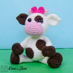Doris the Cow Amigurumi Crochet Pattern by One and Two Company ༺✿ƬⱤღ…