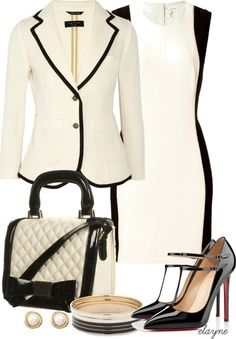 career fashion - love, love, love this! Very classic and chic!
