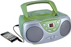 Amazon.com: Sylvania Portable CD Player with AM/FM Radio, Boombox (Green): Electronics