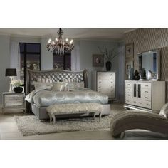Hollywood Swank Bedroom In Graphite From Mor Furniture   Looks Very Elegant.