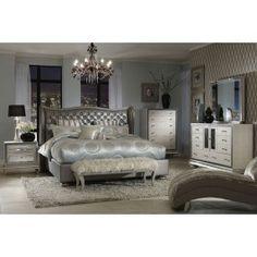 Hollywood Swank Bedroom In Graphite From Mor Furniture   Looks Very Elegant.
