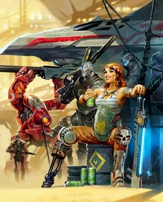 lukas thelin, fenix, kenneth hite, just add rum, pirates, sci fi art, beam sword