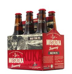 Muskoka Brewery packaging, designed by Rethink. Cool Packaging, Coffee Packaging, Brand Packaging, Packaging Design, Label Design, Beer Images, Canadian Beer, Brewery Design, Beer Brands