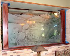 simple interior glass partition beside living room with tree decorative idea