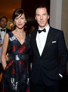 Benedict & Sophie attend the 72nd Annual Golden Globe Awards cocktail party at The Beverly Hilton Hotel on 11th January, 2015