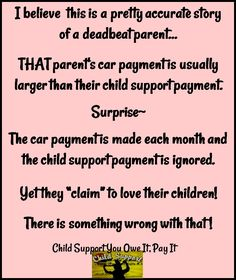 deadbeat parents Deadbeat parents since the beginning of time, there have been children born out of wedlock mathew beach, a child support caseworker for hamilton county, says single parenting is.