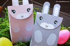 Printable bunny bag craft