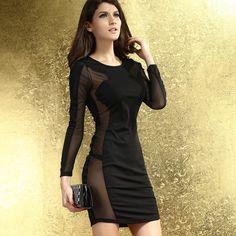 Women' S New Long-sleeved Slim Body Thin Gauze