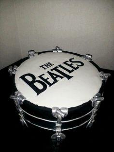Beatles Drum Cake- Cake Blocked