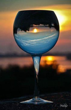 Having a glass of wine and watching the sunset Glass Photography, Creative Photography, Amazing Photography, Nature Photography, Abstract Photography, Cool Pictures, Cool Photos, Beautiful Pictures, Imagen Natural