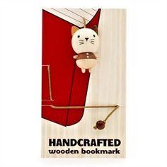 Wooden Cat Bookmark