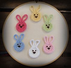 Crochet bunnies! Cute for Spring and Easter!